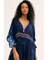 939c55c811a Lyst - Free People Sunset Kisses Embroidered Tunic in Purple