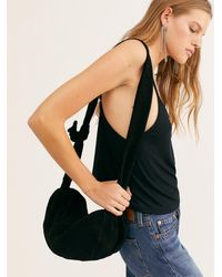 Free People Ami Suede Shoulder Sling Bag By Fp Collection - Black