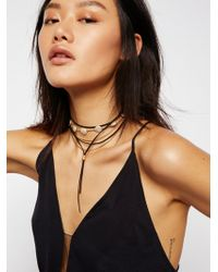 Free People - Wanted & Wild Leather Bolo Necklace - Lyst