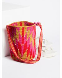 Free People Azul Crochet Bag - Pink