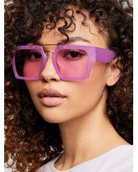 Free People - Wave Runner Aviator Sunglasses - Lyst