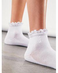 Free People Movement Classic Ruffle Socks - White