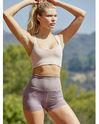 Free People Ultra-high Rise Off Beat Shorts - Pink