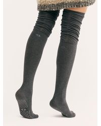 Free People Charlie Rouched Over-the-knee Grip Sock - Multicolour