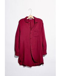 Free People - Double Cloth Buttondown Shirt - Lyst