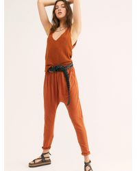 Free People Long Day Harem Leggings By Intimately - Orange