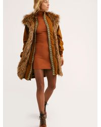 Free People Folklore Fur Hooded Parka - Multicolour