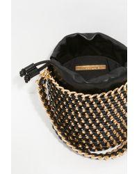 Free People Woven Chain Bucket Bag - Black