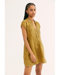 a8fbd8d5c78 Free People - River Linen Stripe Tunic By Cp Shades - Lyst
