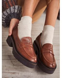 Free People Decker Penny Loafers - Brown