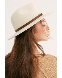 Free People Wythe Leather Band Felt Hat - Natural