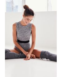 Free People Backless Onesie By Fp Movement - Grey