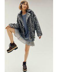 Free People Kate Leopard Coat - Multicolour