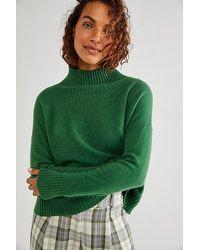 Free People Poppy Cashmere Turtleneck - Green