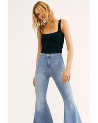Free People Just Float On Flare Jeans By We The Free - Blue