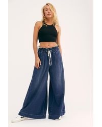 Free People Cameron Paper Bag Wide Leg Jean By We The Free - Blue