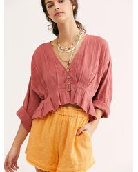 Free People Gretta Top By Endless Summer - Pink