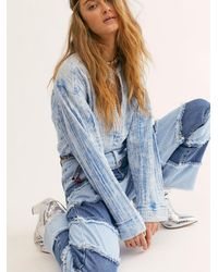 Free People We The Free Anguilla Washed Pullover - Blue