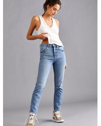 Free People Stovepipe Jeans - Blue
