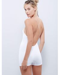 Free People Low Back Seamless Romper By Intimately - White