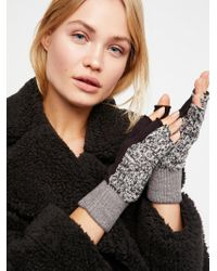 Free People - Holland Colour Block Fingerless Gloves - Lyst