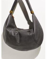 Free People Slouchy Ring Hobo Bag - Black