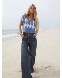 Free People Lakefield Denim Slouchy Jeans - Blue