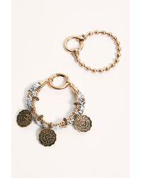 Free People Coin Wrap Bracelet Set - Metallic