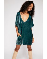 Free People - Crushed Velvet T-shirt Dress By Cp Shades - Lyst