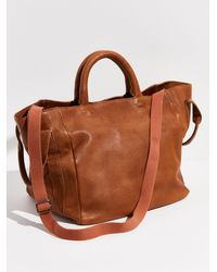 Free People Leslie Leather Satchel By Fp Collection - Brown