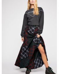 Free People - Walk This Way Maxi Skirt - Lyst