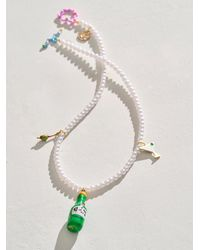 Free People Susan Alexandra Happy Hour Necklace - Multicolour