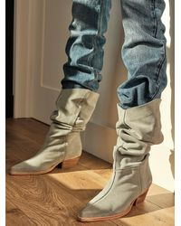 Free People Sway Low Slouch Boots - Multicolor
