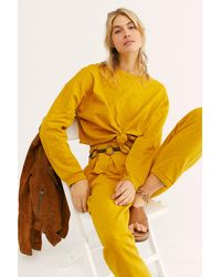 Free People Culver City Set By Fp Beach - Yellow