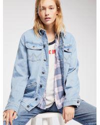 Free People - Wrangler Oversized Jacket - Lyst