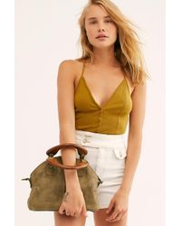 Free People Mini Willow Tote By Fp Collection - Green