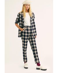 Free People - Horizon Check Suit By Rolla's - Lyst