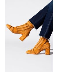 Free People Kira Heel Boots By Silent D - Multicolour
