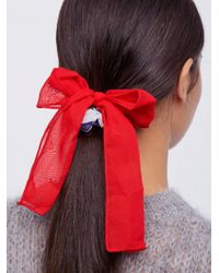 Free People - Colorblock Bow Scrunchie - Lyst