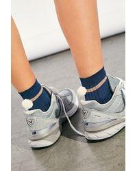 Hansel From Basel Andre Rib Pom Socks - Blue