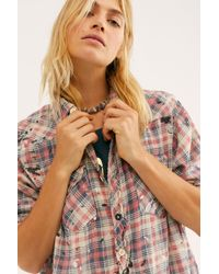 Free People Kelly Western Plaid Shirt By Magnolia Pearl - Multicolour