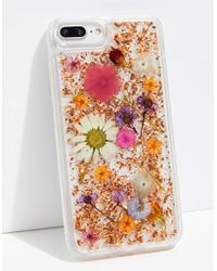 Free People Luxe Pressed Flower Phone Case - Pink