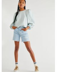 Free People Levi's 501 Mid Thigh Shorts - Blue