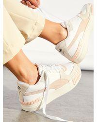 Free People Puma Cali Sport In Bloom Sneakers - White
