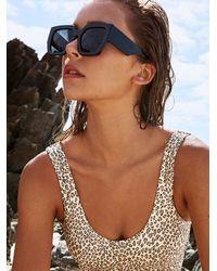 Free People Bel Air Square Sunglasses - Black