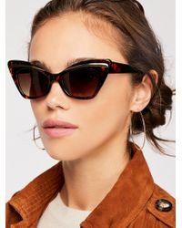 Free People - Florence Cat Eye Sunglasses - Lyst
