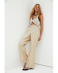 Free People Denim Track Trousers - Natural