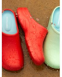 Free People Birdie Danish Rubber Clogs - Red