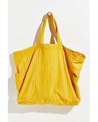 Free People Organic Veg Dyed Printed Tote - Yellow