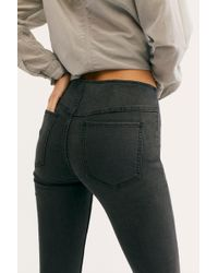 Free People Penny Pull-on Flare Jeans By We The Free - Black